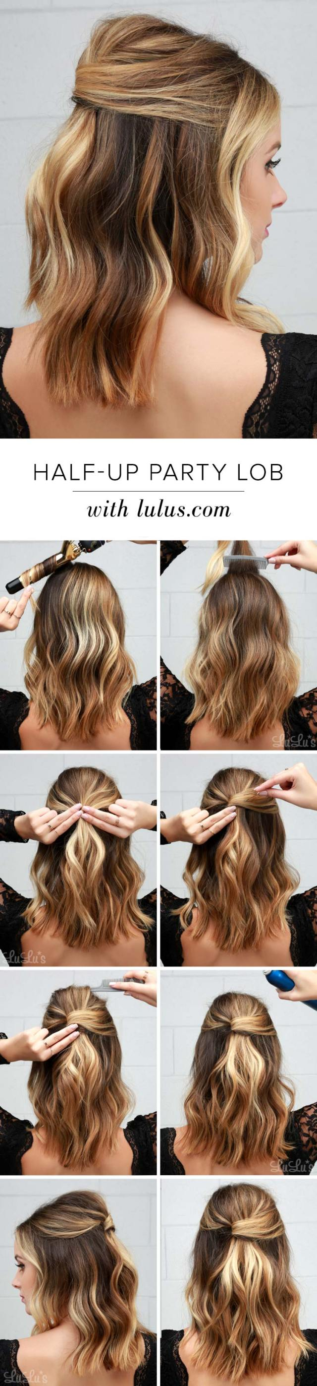 15 super easy half-up hairstyle tutorials you have to try