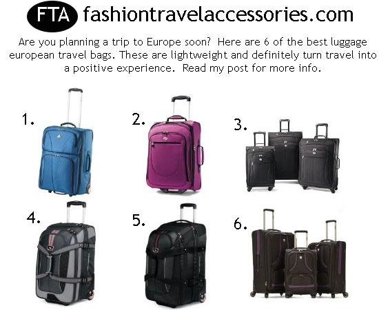 best luggage european travel bags