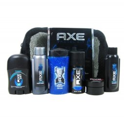 Travel Gifts For Men Axe Personal 6 Piece Travel Kit Gift Set Shower Gel, Bodyspray, Deodorant, Shampoo, Conditioner, Styling Putty