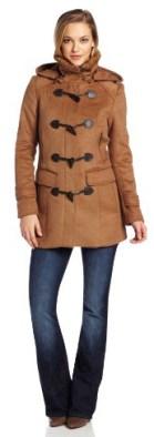 Cole Haan Women's Double Faced Wool Duffle Coat, Camel