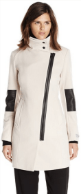 Types Of Coats Marc New York by Andrew Marc Women's Ada Moto Wool Coat White