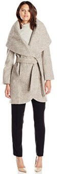 Types Of Coats T Tahari Women's Marla Wool Wrap Coat Tweed