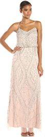 13 Summer dress Paris Adrianna Papell Women's Sleeveless Beaded Blouson Gown