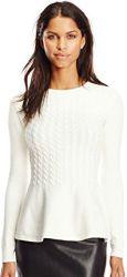 6 Fall Tops Paris Ted Baker Women's Mereda Cable-Knit Peplum Sweater
