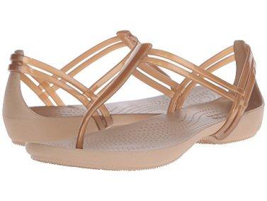 14 Comfortable Walking Shoes Europe Crocs Women's Isabella T-Strap Sandal