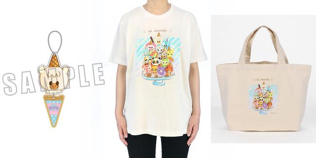 【グッズ情報】アニメイトより「iiiあいすくりん」アイスキーホルダー(全15種)、Tシャツ、ランチトートバッグが発売決定