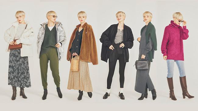Gapと雑誌GISELeがセーターやアウターを使った秋冬の着こなしを提案