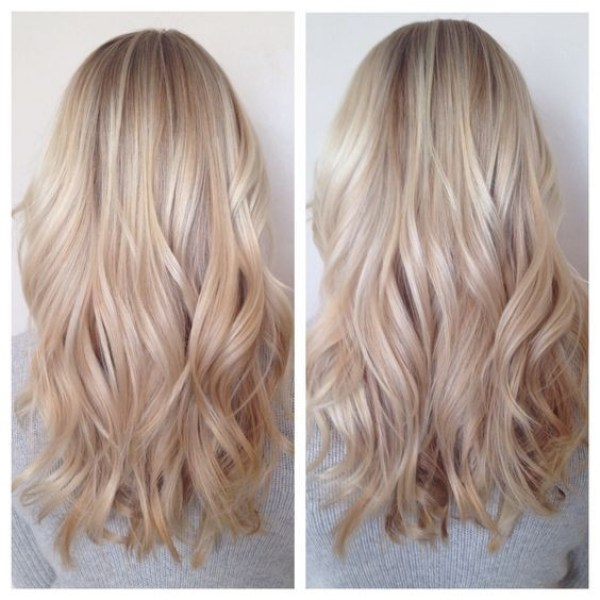 Blonde romantic medium layered 2021 hairstyles for women