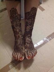 Beautiful Full Hand Feet Mehndi Designs For Events 2015 3