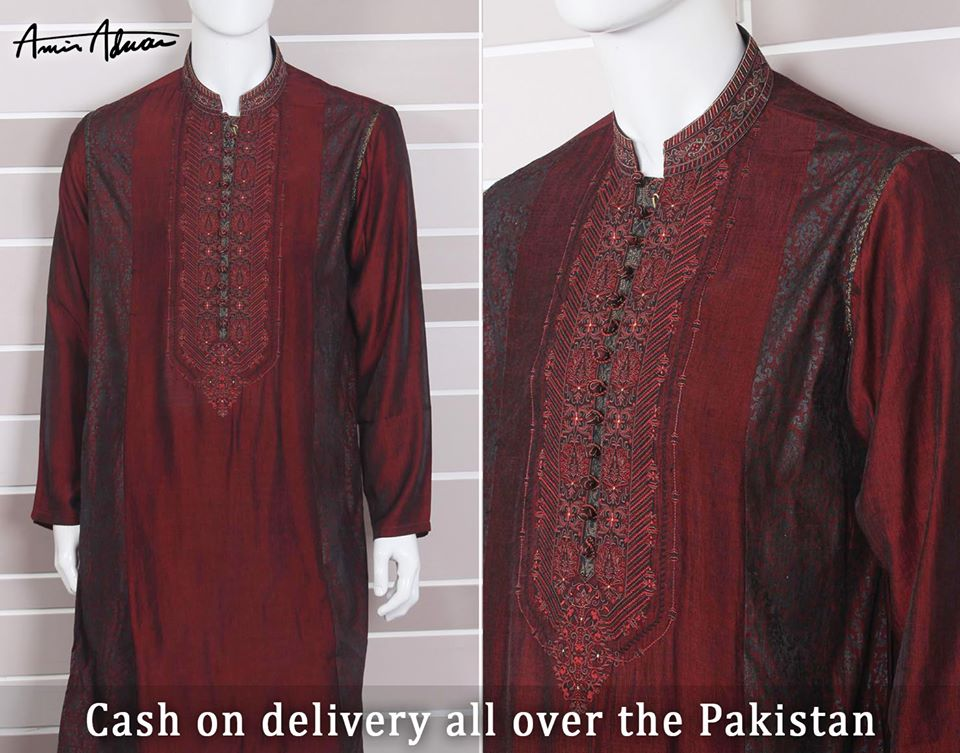 Beautiful Men Kurta Designs By Amir Adnan This Eid 2015
