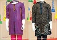 Angrakha Style Eid Kids Wear Dresses By Junaid Jamshed 2015 13