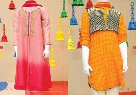 Angrakha Style Eid Kids Wear Dresses By Junaid Jamshed 2015 2