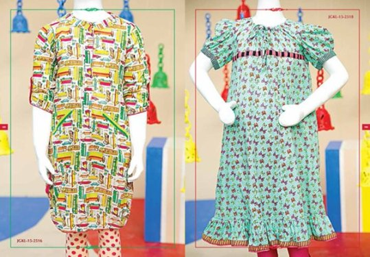 Angrakha Style Eid Kids Wear Dresses By Junaid Jamshed 2015 9
