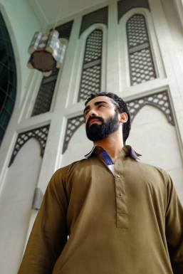 Eid Wear Casual Men Kurta Designs By Arslan Iqbal 2015 3