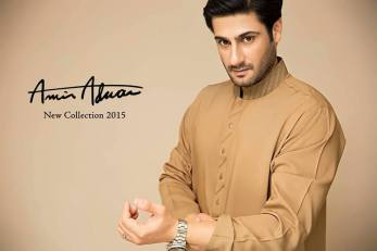 Mid Summer Kurta Designs For Men By Amir Adnan 2015 3