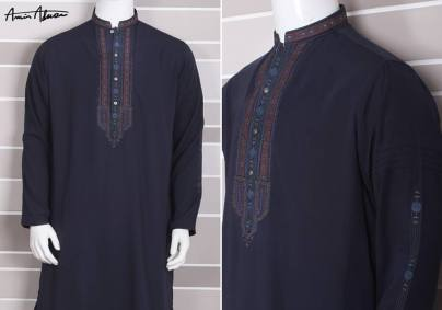 Mid Summer Kurta Designs For Men By Amir Adnan 2015 8
