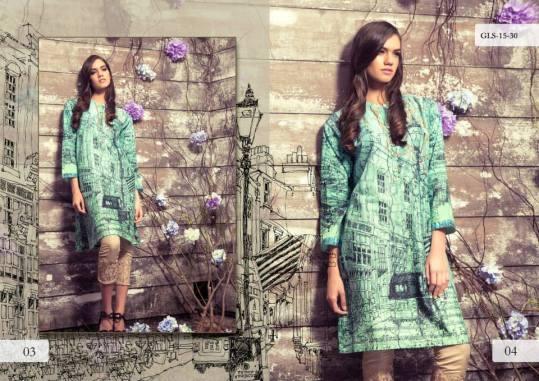 Digital Pret Kurtis Eid Wear Ideas Collection By Gul Ahmed 2015-16 2