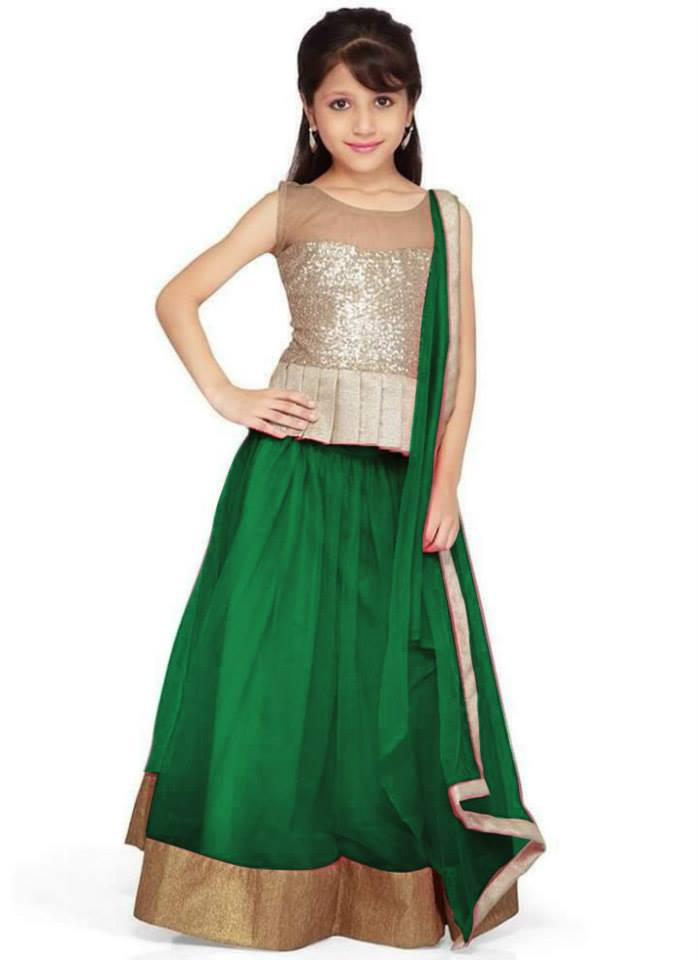 green lehnga