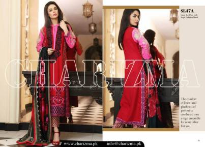 Embroidered Linen Eid Wear Dresses By Charizma 2015-16 11