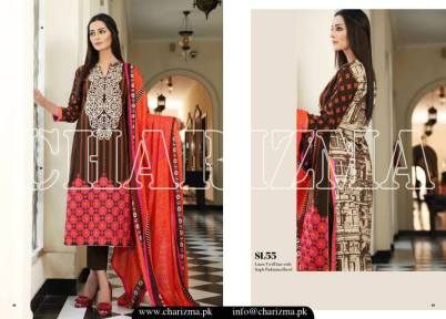 Embroidered Linen Eid Wear Dresses By Charizma 2015-16 12