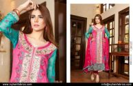 Embroidered Swiss Cotton Dresses By Rujhan 2015-16 10