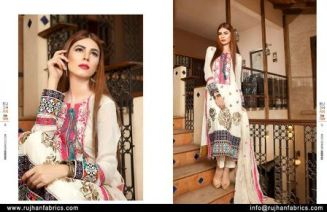 Embroidered Swiss Cotton Dresses By Rujhan 2015-16 4
