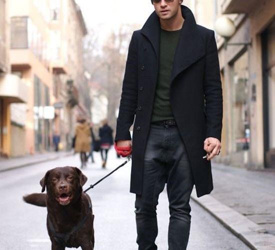 black winter clothing