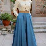 Winter Maxi Dresses With Hijab Fashion Trend 2015-16
