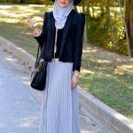 Winter Maxi Dresses With Hijab Fashion Trend 2015-16 2