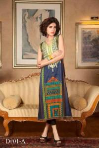 Embroidered Prints Long Shirts By Moon Textiles 2015 2