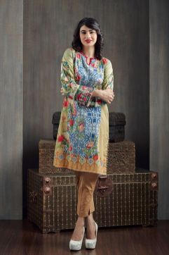 Floral Printed Kurtis For Winter By Happa Studios 2015-16 8