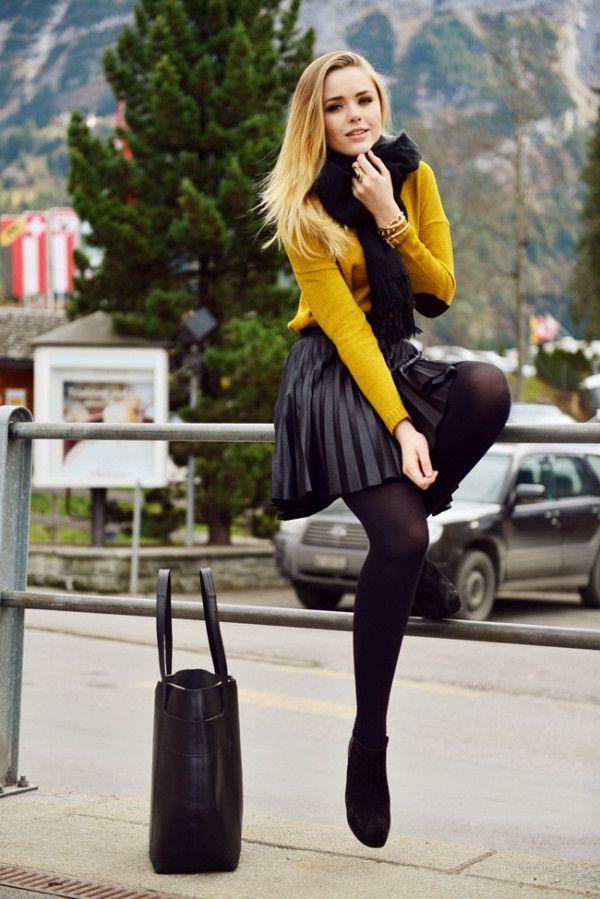 short skirt in winter