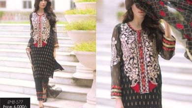 Silk Chiffon Embroidered Dresses By So Kamal 2016