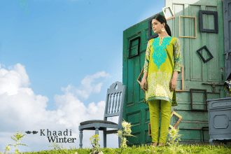 Two Piece Embroidered Polyester Kameez By Khaadi 2015 12