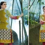 2 Piece Embroidered Linen Kurtis By Al Zohaib Textiles 2016 8