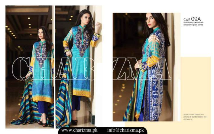 3 Piece Karandi Pashmina Collection By Charizma 2016