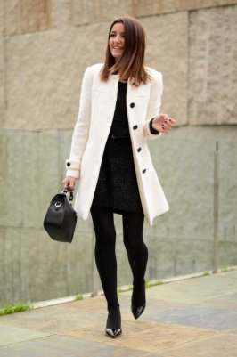 Black Tights Winter Outfits Trends For Women 5