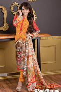 Embroidered Silk Karandi Winter Collection By Gul Ahmed 2015-16