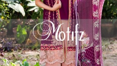 Embroidered Winter Linen Dresses By Motfiz 2015-16