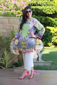 Floral Silk Kurta Collection For Casual Wearing By FTA 2016