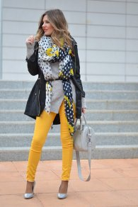Gray Dark Shades Winter Outfits Women Street Style 2015-16 11