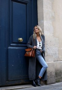 Gray Dark Shades Winter Outfits Women Street Style 2015-16 9
