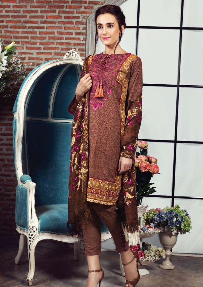 embroidered prints on kameez