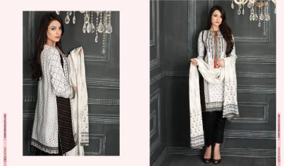 Linen Embroidered Casual Dresses By Firdous Cloth Mills 2015-16