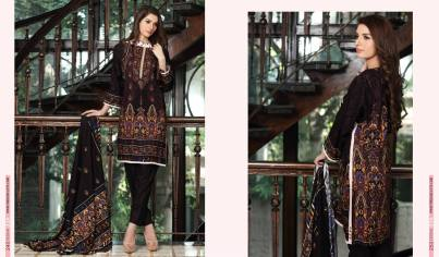 Linen Embroidered Casual Dresses By Firdous Cloth Mills 2015-16 4