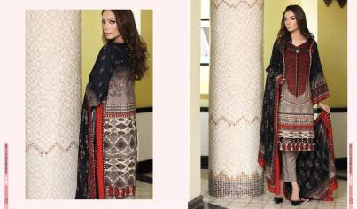 Linen Embroidered Casual Dresses By Firdous Cloth Mills 2015-16 5