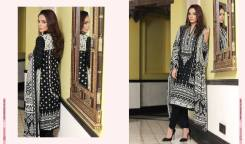 black embroidered winter dress
