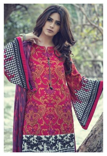 Maria B Linen Winter Dresses For Young Girls 2015-16 5