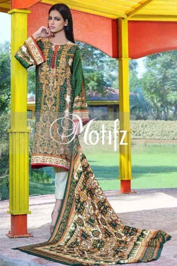 Printed Karandi Winter Collection By Motifz 2015-16 7