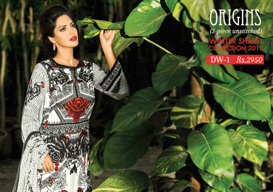 Ready To Wear Winter Kurtis By Origins 2015-16 1